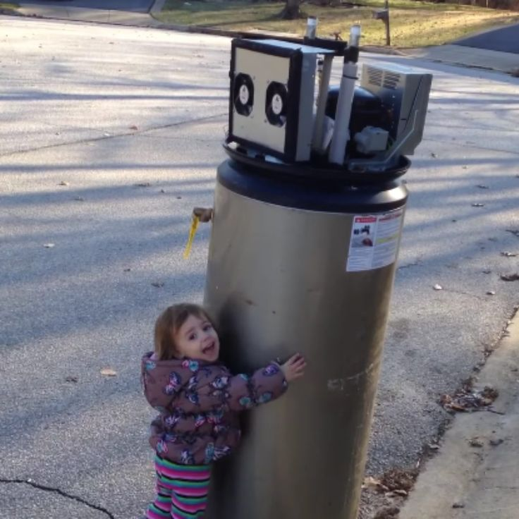 Little Girl Mistakes Water Heater For Robot, Welcomes It ...