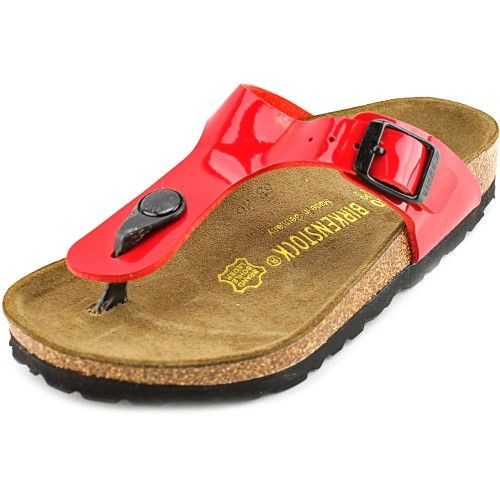 Birkenstock Gizeh Youth US 12 N Red Thong Sandal, Girl's, Size: 12 N US Little Kid, Brown
