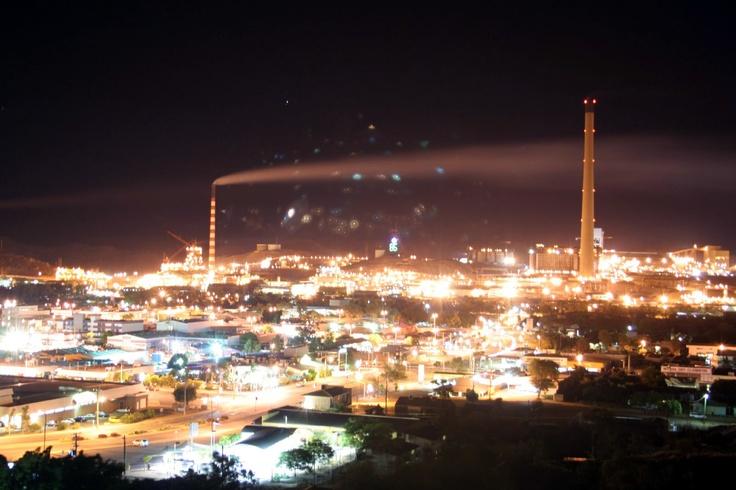 Night lights of Mt Isa, Queensland