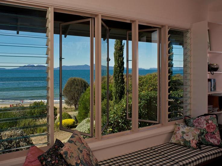 louvre windows + bench seat + view!