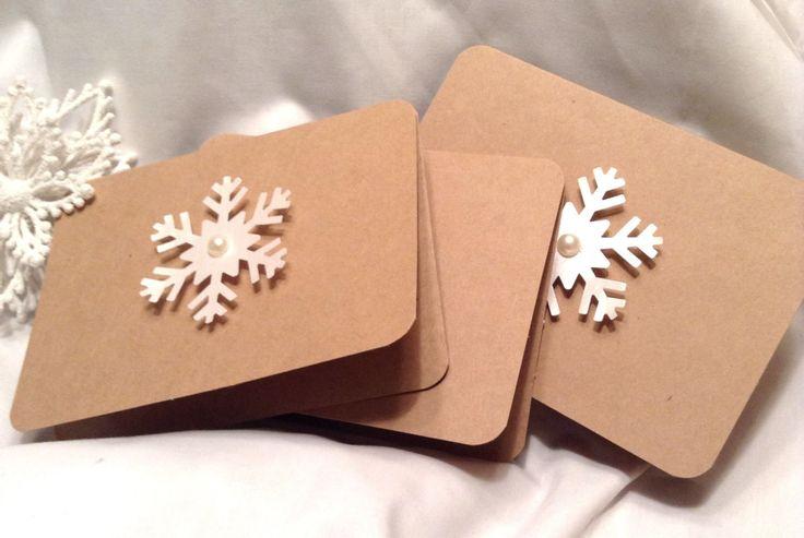 Christmas cards. Kraft paper Christmas cards. snowflake. kraft paper. Snowflake cards. Winter cards. Holiday cards