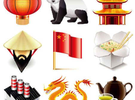 Chinese elements vector