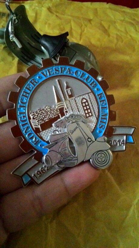 Badge vespa club kelmis 1962 to 2014    3.D  Size. 6cm to 6cm