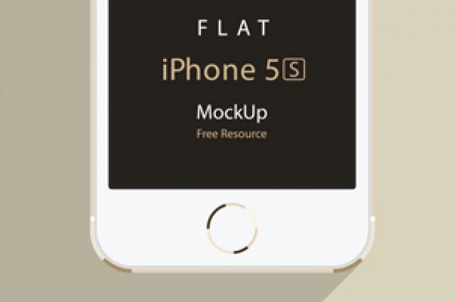 And now the iPhone 5S psd version of our flat design device mockups. Again we included both the horizontal and vertical...