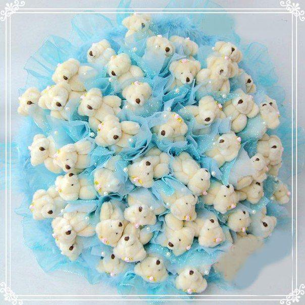 bouquet of teddy bears