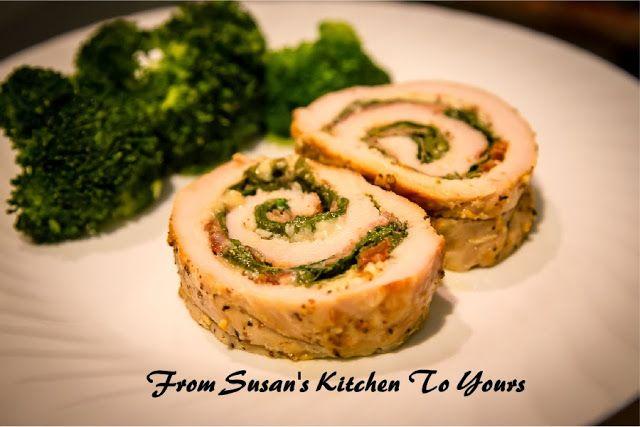 ... Susan's Spinach Prosciutto and Mozzarella Stuffed Pork Tenderloin