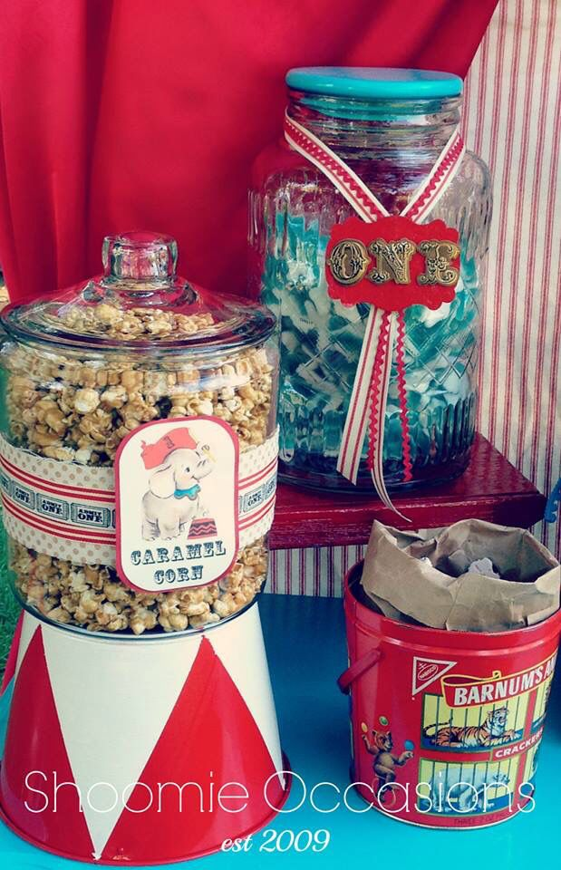 Vintage Circus Candy Buffet by Shoomie Occasions