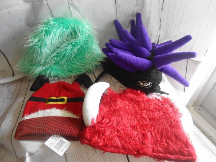 Theater Play Costume Hat Lot 4 Viking Mental Santa down the chimney Funky Hats #Unbranded #Masquerade
