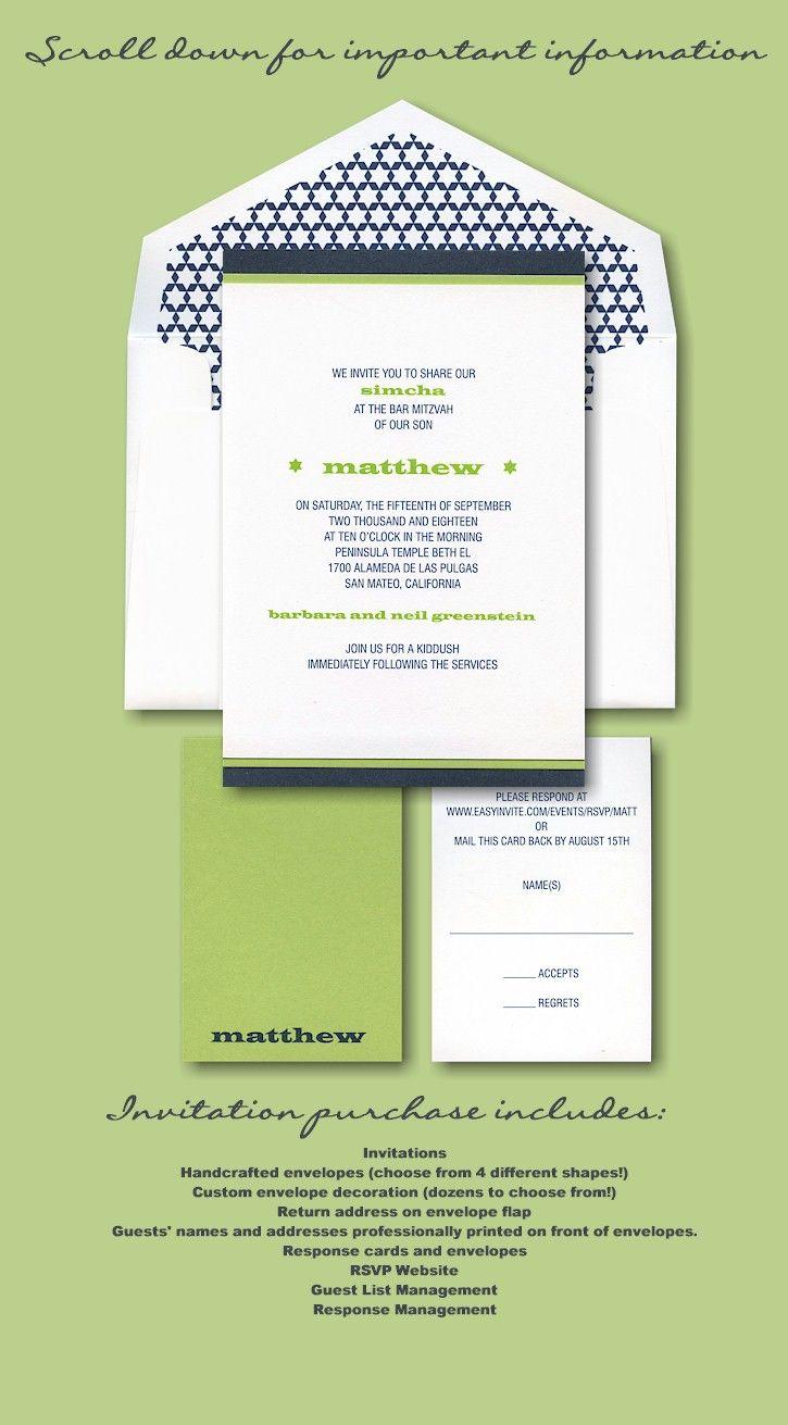 19 best SIL Invitations images on Pinterest | Cards, Bat mitzvah ...
