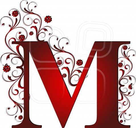 capital letter M red, abstract, alphabet, alphabetic ...