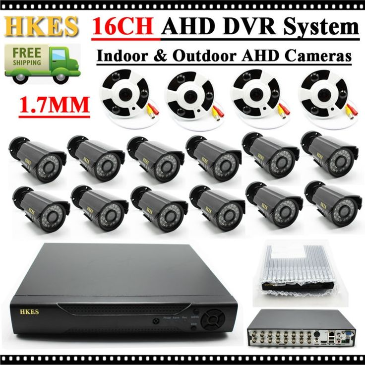 481.39$  Buy now - http://ali1tj.worldwells.pw/go.php?t=32791395276 - AHD 720P Fisheye Camera 1.7mm Lens with 12pcs Outdoor IR Bullet Camera 16 Cahnnel AHD DVR Security System