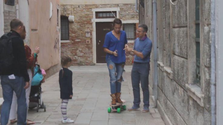 На электро скейте по Венеции Путешествия по Италии On electric skateboar...