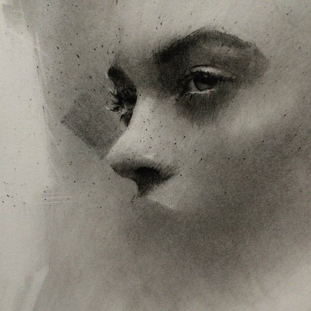 Instagram media by caseybaugh - Detail of charcoal beginnings ➰ #art #charcoal #caseybaugh