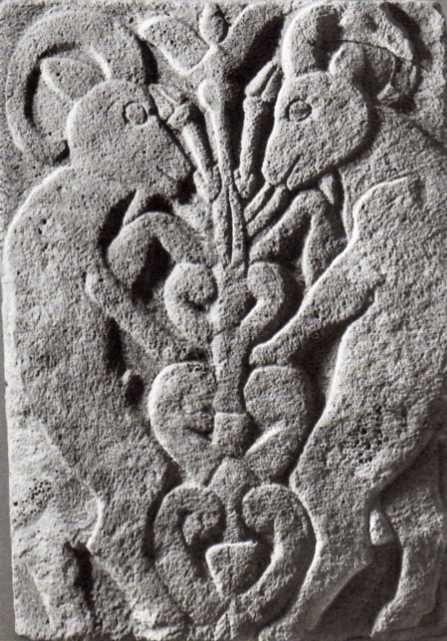 Hittite, treeof life and two goats, Karatepe, 800 BC.