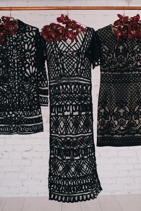 LANE Bridesmaid Dresses of the Week / Black Lace (instagram: the_lane)
