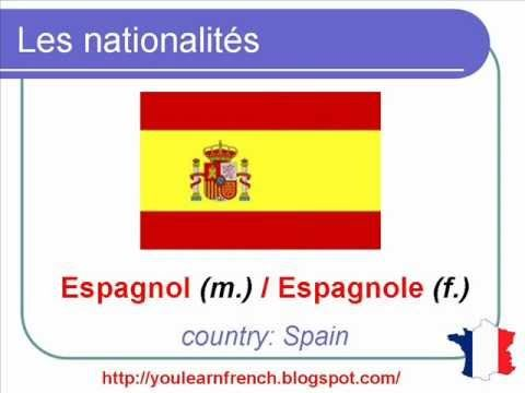 French Lesson 123 - Nationalities in French - Les nationalités en frança...