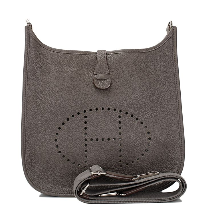 Hermes Evelyne III PM Clemence Bag in Etain with Palladium ...