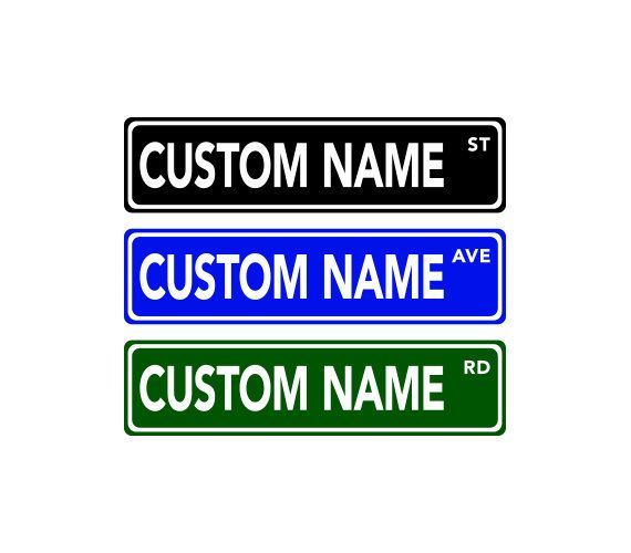Custom Street Sign Street Sign Decor  Personalized Name by KRsigns, $15.00