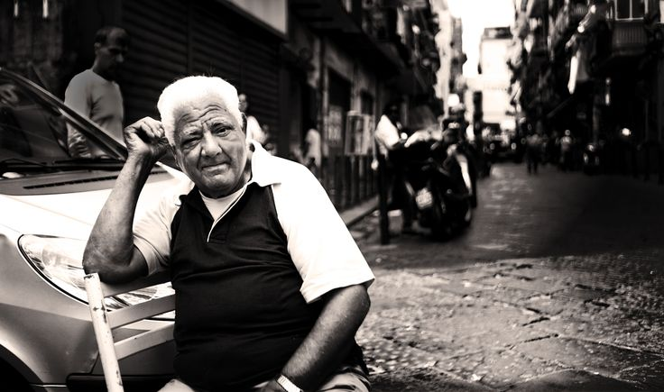stranger - Taken in the old district of Naples, Italy.