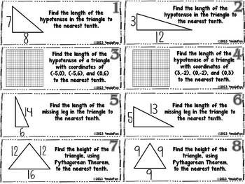 50 best Coordinate Algebra-Pythagorean Theorem images on