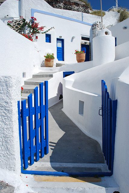 Beautiful village Imerovigli, Santorin, Greece