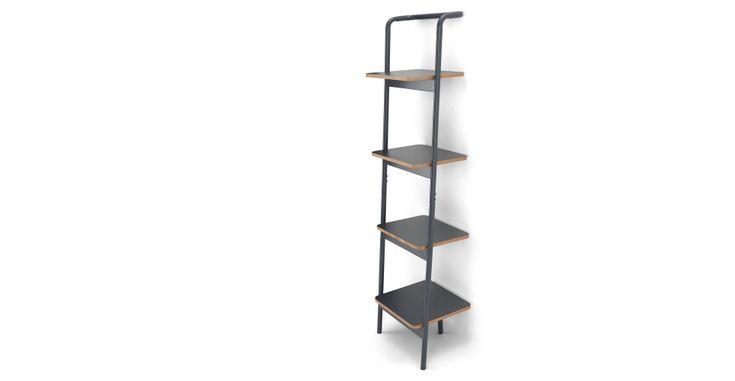 MADE Essentials Mino Leaning Shelves, Grey   MADE.com