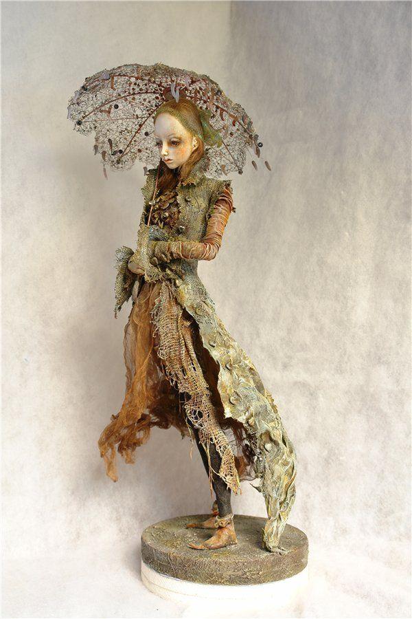 love this sort of nature tattered look to this art doll: Deineko Dolls, Dolls Art, Irina Deineko, Sculpture Art Dolls, Art Dolls Now, Ooak Dolls