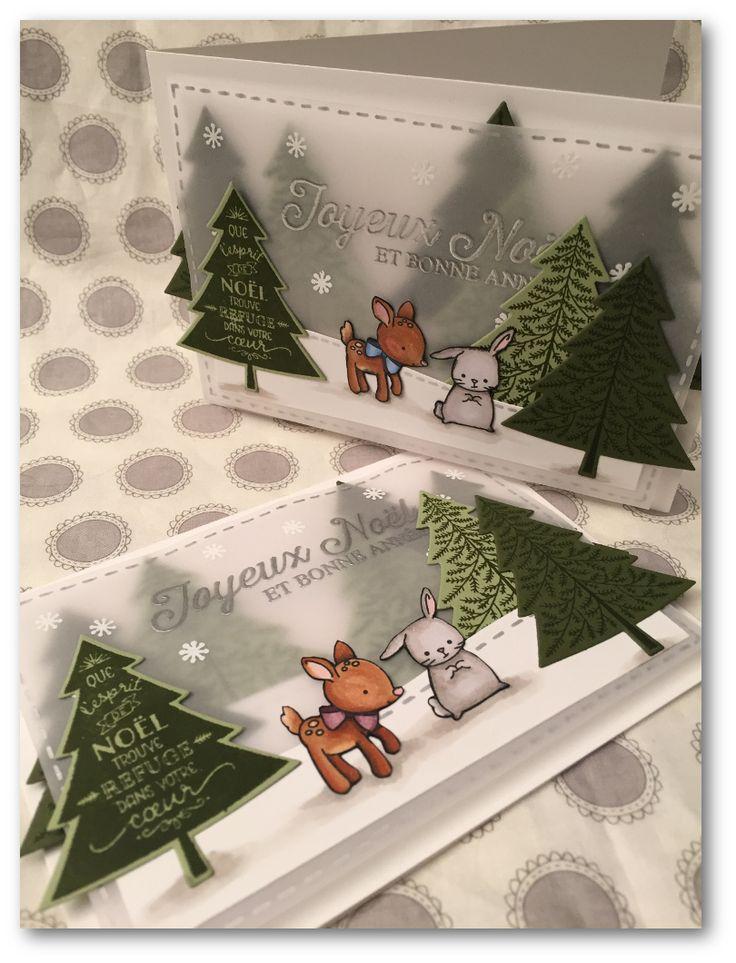 Coul'Heure Papier: [Calendrier de l'Avent - Jour 14] Carte Forêt Ench...