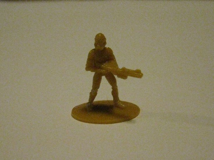 2005 Risk: Star Wars The Clone Wars Board Game Piece: single Yellow Clone Trooper Player Pawn