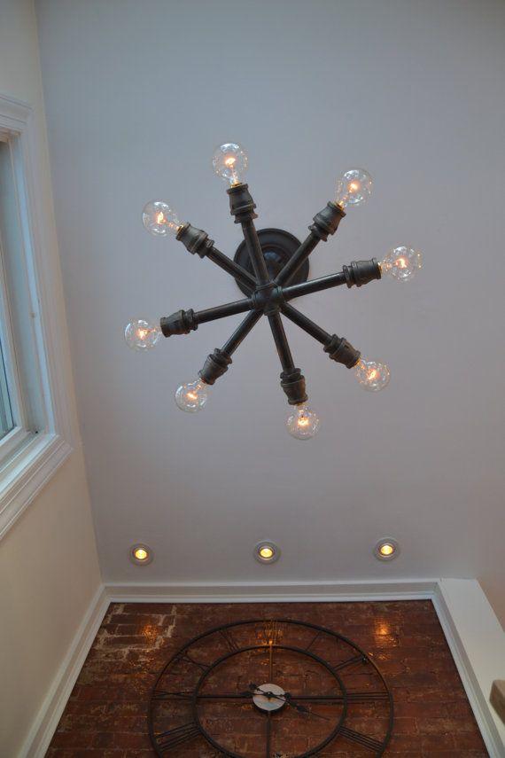 Ceiling Sputnik fixture Steampunk Light by WestNinthVintage