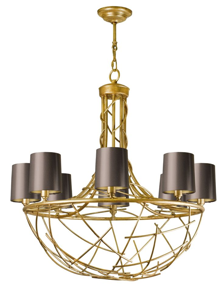 Ferro Metal Chandelier - Contemporary Industrial Transitional Chandeliers - Dering Hall