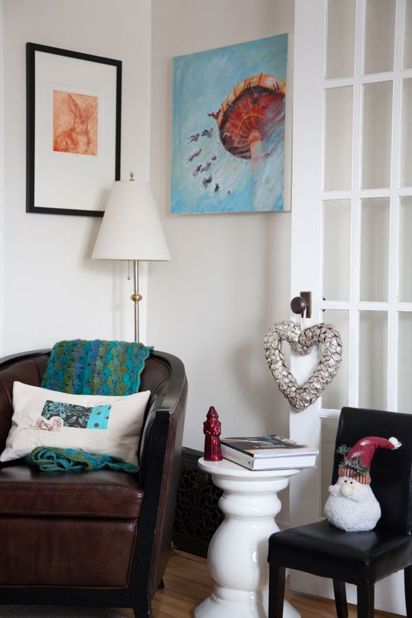 A favourite place to read. My favourite spot to read in my living room featured on @Sunday Dawson Crush art by @Aylan Couchie Couchie @Jill Meyers Price and Sarah Martin