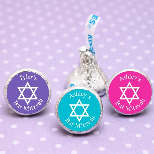 Personalized Bar or Bat Mitzvah Hershey's Kiss - 100 pcs - Bar Mitzvah & Bat Mitzvah Party Favors - Other Occasions - Wedding Favors & Party Supplies - Favors and Flowers