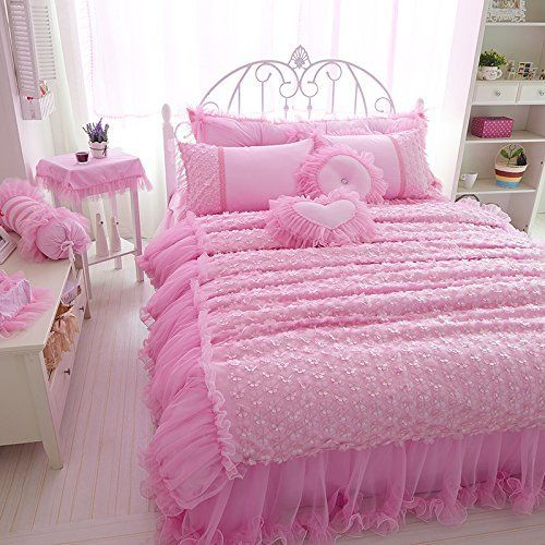 FADFAY Home Textile,Romantic Cherry Blossom Bedding Sets,Luxury Brand  Wedding Bed Clothes,
