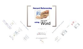 How to use the Referencing tools built into MS Word, and modify them to the Harvard standard used at Newcastle College.