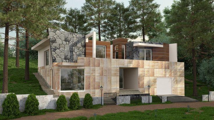 Дом на Средиземном море - Загородный дом. Интеграция в реальный ландшафт…