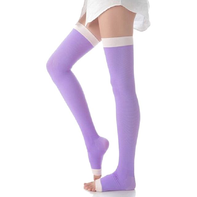 Slimming Open Toe Over-the-Knee Fashion Compression Hosiery, Women's