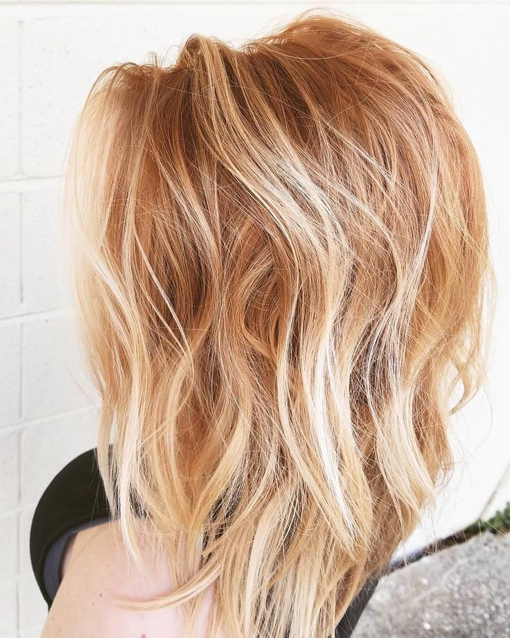 Tousled Strawberry Blonde Waves