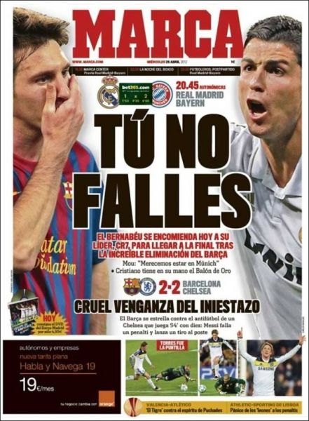 Te presentamos 'El Papelón' del 25 de abril. La falla de Messi y el juego del Real Madrid, lo destacable.