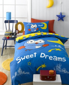 Giggle and Hoot Single Bed Quilt Set. Giggle and Hoot single bed quilt cover with 1 pillow case.    Put your kids to sleep in this adorable reversible designed single bed quilt set. $39.99