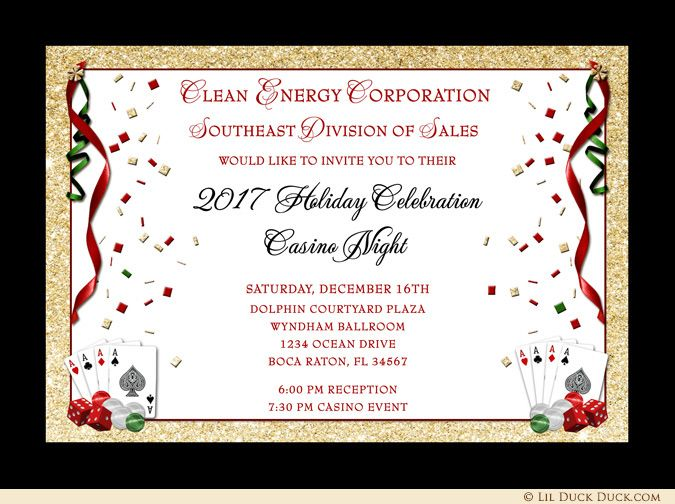 23 best business holiday card designs images on pinterest card casino royale holiday party invitations james bond style stopboris Choice Image
