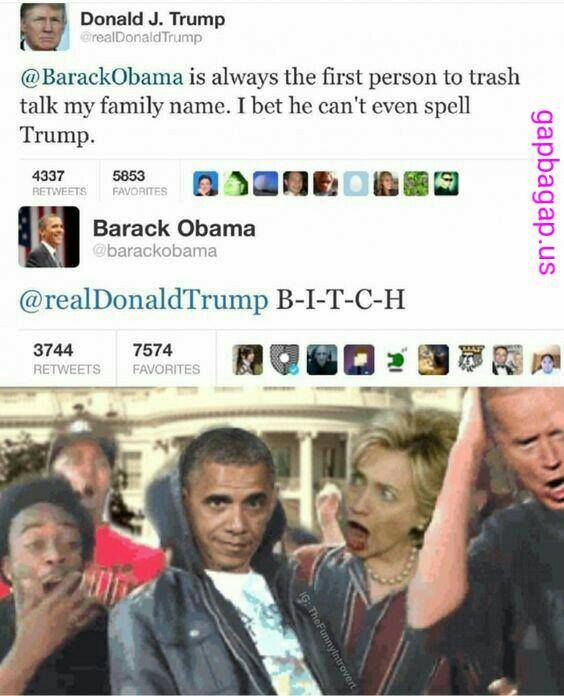 Hilarious Tweets About Donald Trump vs. Barack Oba...