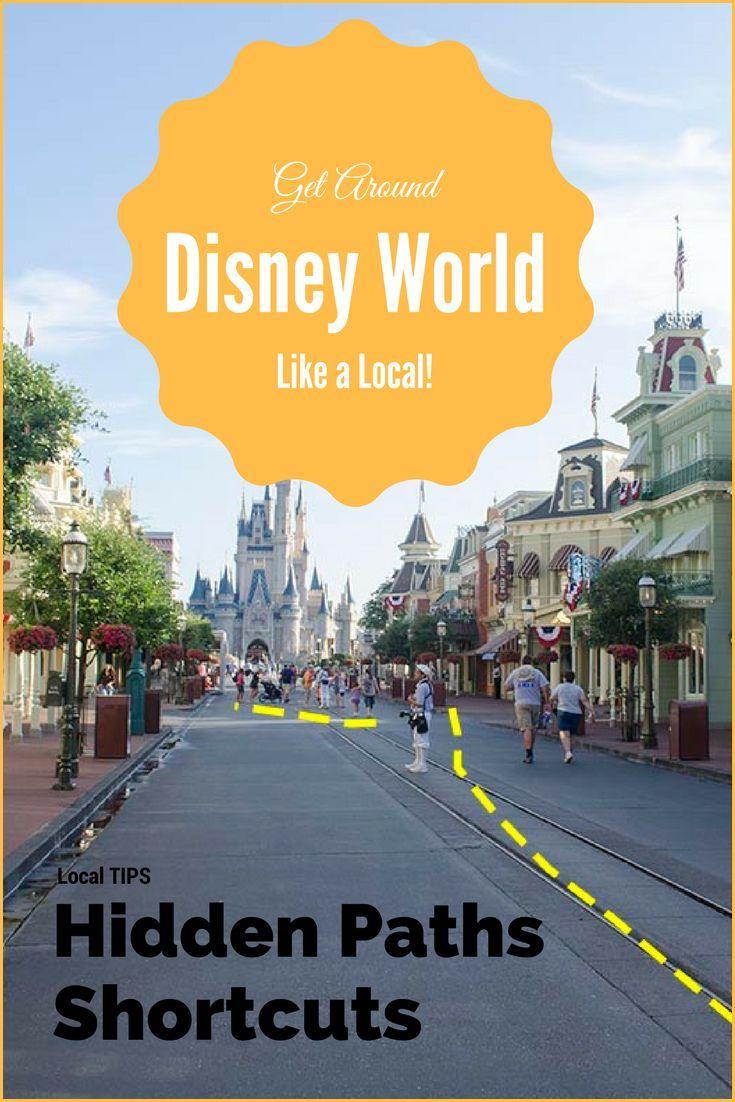 Hidden shortcuts to get you around Walt Disney World Parks like a local. #DisneyParks #DisneyMaps #DisneyWorldParkMaps