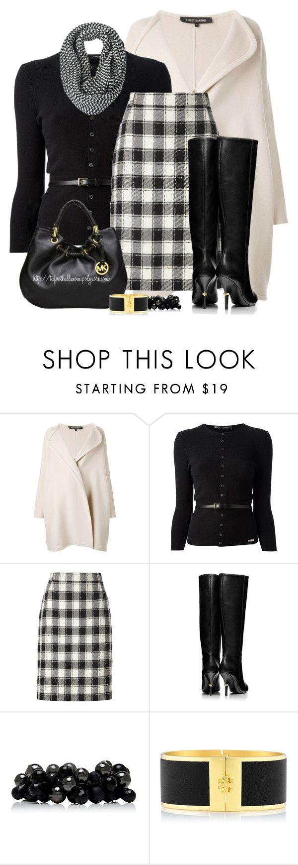 """""""Christmas Eve Church Service"""" by tufootballmom ❤ liked on Polyvore featuring Ter Et Bantine, Dsquared2, Pierre Cardin, Tory Burch, Michael Kors, Forever New and Burberry"""
