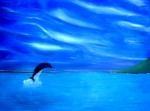 dolfijn  kunstschilder vansteene johnny