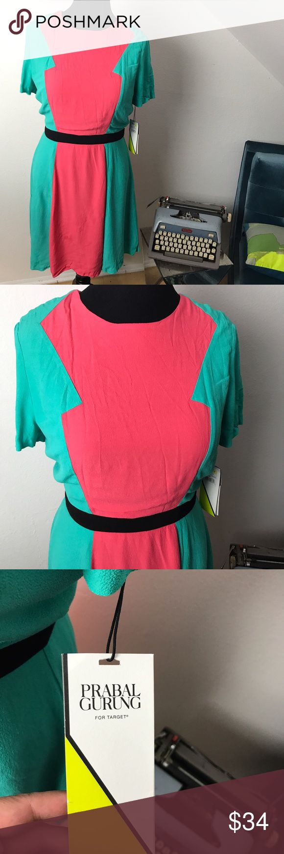 NWT Prabel Gurung for Target Dress Designer collection for Target Coral and Seafoam dress. (My mannequin has a 39' bust, 31' waist. Prabal Gurung for Target Dresses