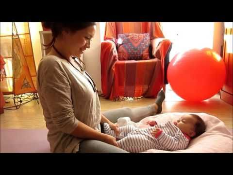 Yoga para bebés. Estimulación motriz para bebés. Baby stimulation