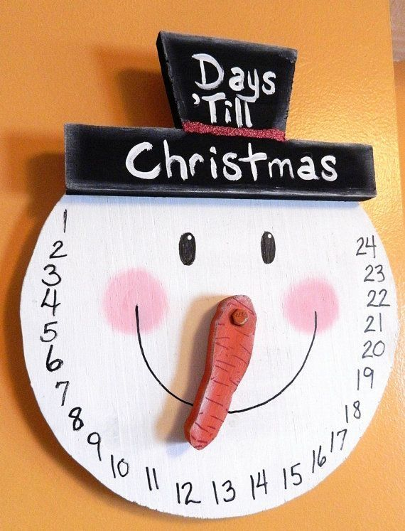 Snowman COUNTDOWN to Christmas Wall Hanging / ADVENT Calender Free Ship