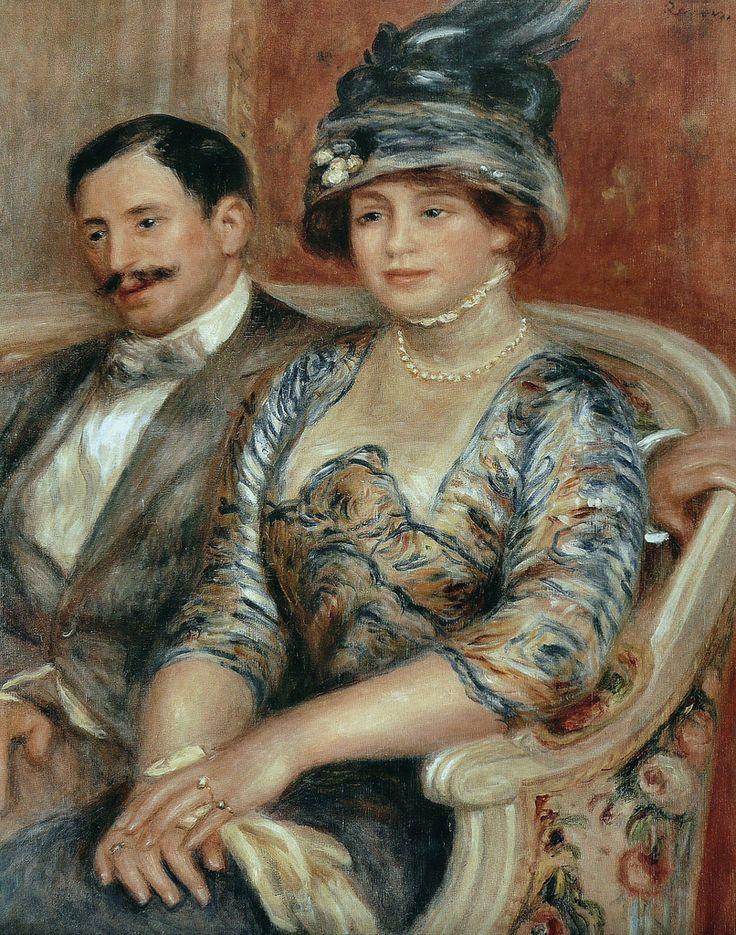 ♔ 'Monsieur and Madame Bernheim de Villers' ~ 1910 ~ by Pierre Auguste Renoir