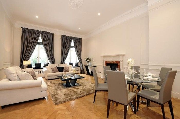 Reception room - Lowndes Square, London